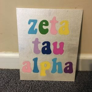 Other - 8x10 Zeta Tau Alpha canvas
